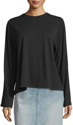 Helmut Lang Open-Back Pima-Blend Top, Black