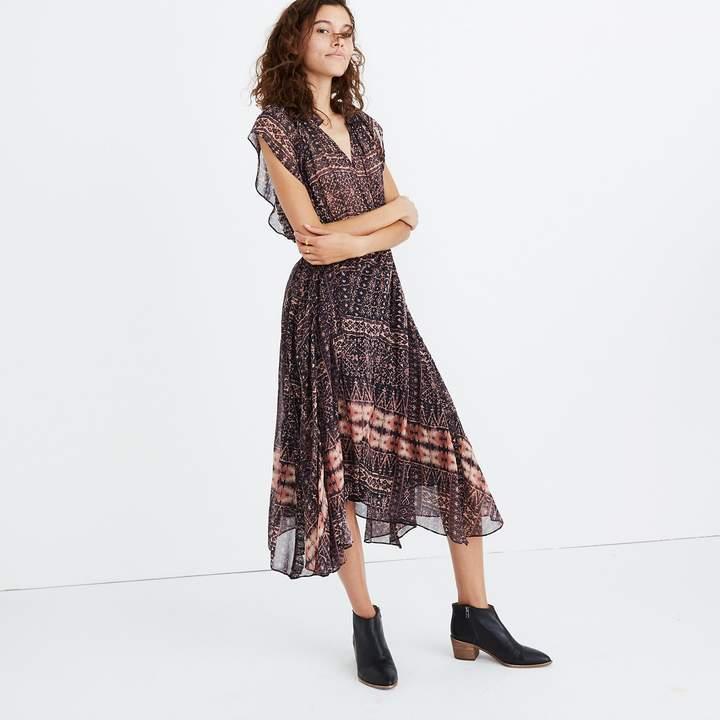 Ulla JohnsonTM Silk Farah Printed Midi Dress