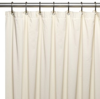 Carnation Home Fashions Shower Stall-Sized (54'' x 78'') Mildew-Resistant, 10 Gauge Vinyl Shower Curtain Liner w/ Metal Grommets and Reinforced Mesh Header in Bone