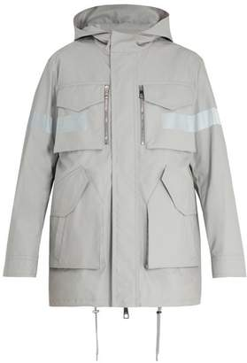 Neil Barrett Technical Reflective Detail Coat - Mens - Silver