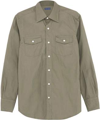 Ring Jacket Chest pocket canvas shirt