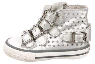 Ash Girls' Laser Cut Leather Sneakers