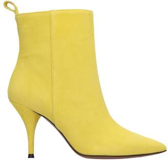 L'Autre Chose Lautre Chose LAutre Chose High Heels Ankle Boots In Yellow Suede