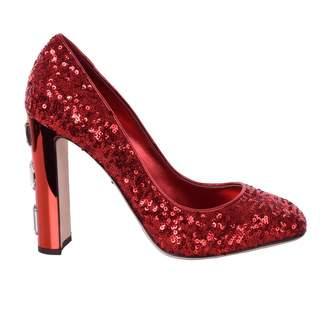 Dolce & Gabbana Red Glitter Heels