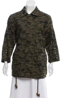 Rebecca Minkoff Embellished Army Fatigue Jacket