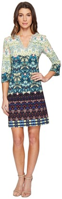 Christin Michaels - Bexley Printed Dress with Beading Women's Dress $149 thestylecure.com