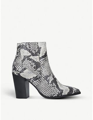 Carvela Sizzle snakeskin-print heeled ankle boots