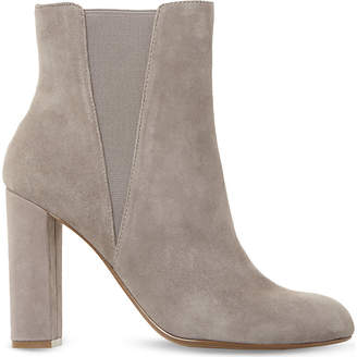 Steve Madden Ladies Grey Classic Effect Suede Ankle Boots