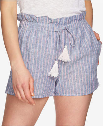 1 STATE 1.STATE Striped Paperbag Shorts