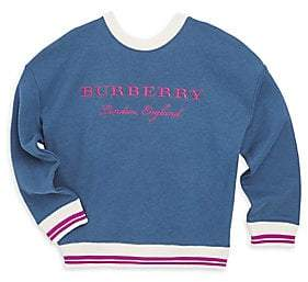 Burberry Little Girl's& Girl's Eli Rib Stripe Cotton Sweater