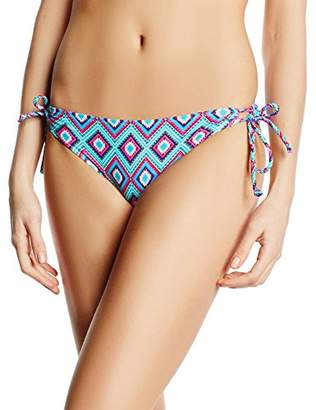 Marie Meili Women's Dandelion Side Tie Briefs Aztec Bikini Bottoms,(Manufacturer Size:Small)