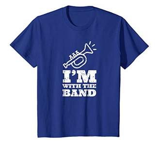 I'm With The Marching Band Funny Trumpet Player Gift T Shirt