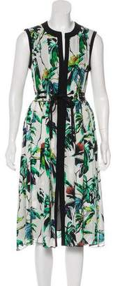Proenza Schouler Silk Butterfly Print Dress