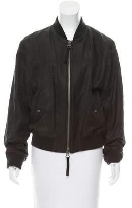 Vince Linen-Blend Bomber Jacket