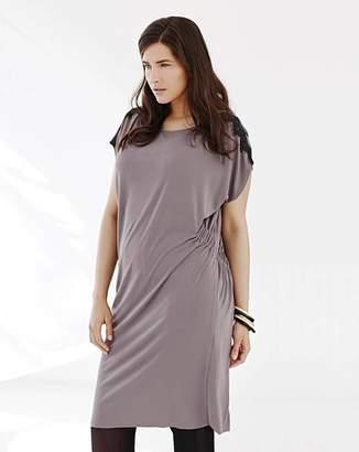 Grey Lace Dress - ShopStyle UK