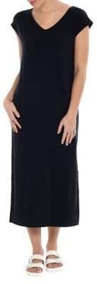 Paper Label Short Sleeve V-Neck Maxi Dress