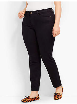 Talbots Plus Size Exclusive Comfort Stretch Denim Slim Ankle Jeans-Black