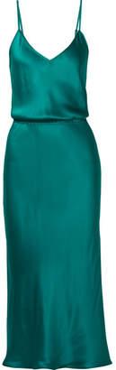 Mes Demoiselles Nouba Silk-satin Dress - Turquoise