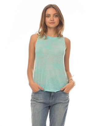 Synergy Burnout Crescent Moon Draped Open Back Tank