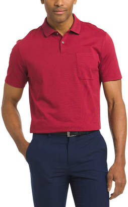 Van Heusen Short Sleeve Stripe Knit Polo Shirt
