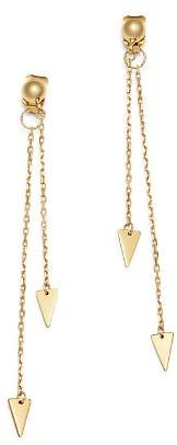 Moon & Meadow Arrow Chain Drop Front-Back Earrings in 14K Yellow Gold - 100% Exclusive