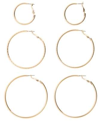 BP 3-Pack Hoop Earrings