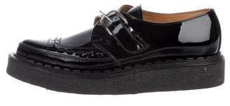 George Cox Patent Leather Monk Strap Creepers