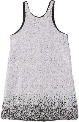 Zoe Kinsley Two-Tone Knit Sequin Shift Dress Size 7-16