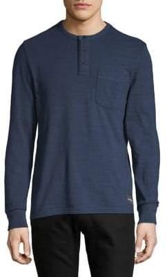 Calvin Klein Jeans Long-Sleeve Logo Cotton Henley