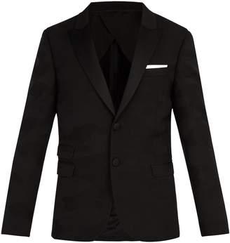 Neil Barrett Tonal camouflage-jacquard tuxedo jacket