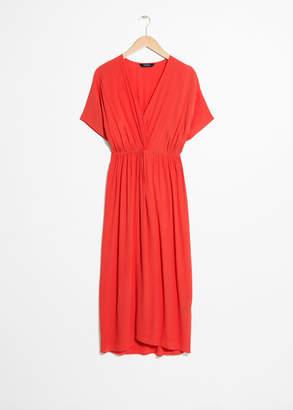 And other stories Twist Knot Midi Dress