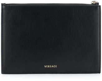 Versace top zipped purse
