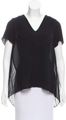 MICHAEL Michael Kors Lace-Accented Short Sleeve Top w/ Tags