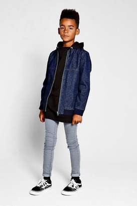 boohoo Boys Denim Bomber Jacket