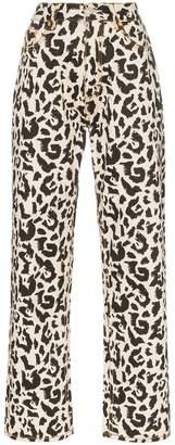 Eytys benz leopard print jeans