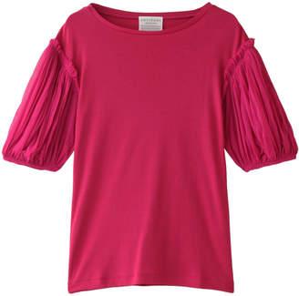 Antipast (アンティパスト) - アンティパスト メッシュスリーブコットンフライスTシャツ