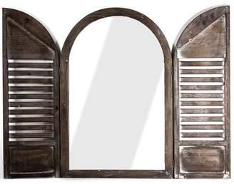 Bloomsbury Market Mauney Cathedral Arch Window Shutter Wall Mirror