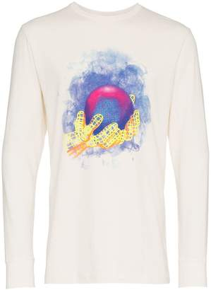 Off-White World Hand print cotton t shirt