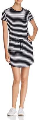 Majestic Filatures Stripe Drawstring Mini Dress