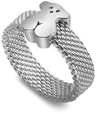 Tous Sterling Silver Small Mesh Ring