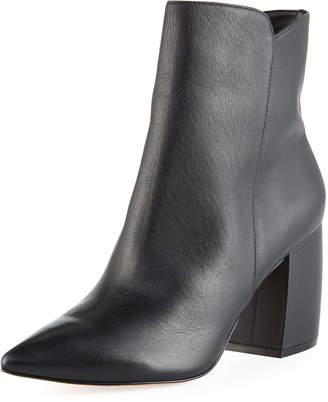 Carrano Sandra Short Leather Block-Heel Boots