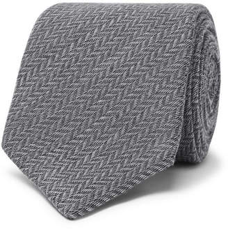 Canali 8cm Wool And Silk-blend Jacquard Tie