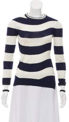 Fendi Striped Crew Neck Sweater