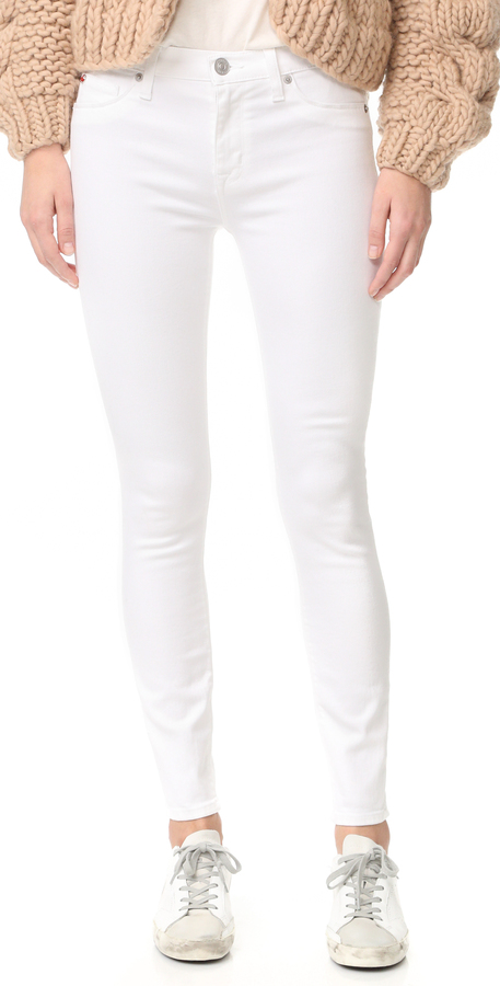 Hudson Nico Mid Rise Super Skinny Ankle Jeans