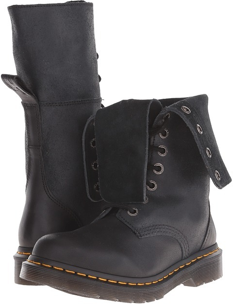 Dr. Martens Dr. Martens - Hazil Tall Slouch Boot Women's Lace-up Boots