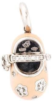 Aaron Basha 18K Diamond & Enamel Baby Shoe Charm