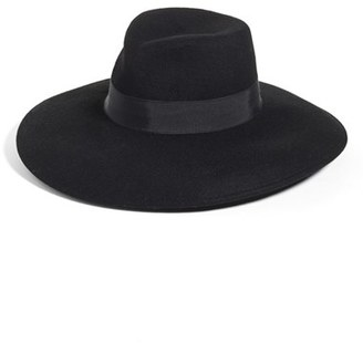 Women's Eric Javits Camille Wool Floppy Hat - Black $198 thestylecure.com