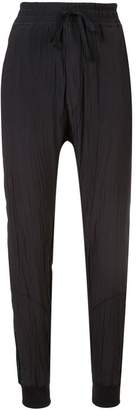 Haider Ackermann crinkled lounge trousers