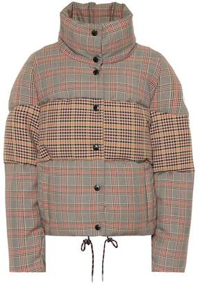 Moncler Checked wool-blend down jacket