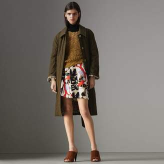 Burberry Quilted Tropical Gabardine Car Coat